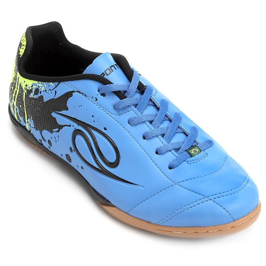 Chuteira Futsal Dalponte Contact Masculina - Azul e Verde - Compre ... 40b1a237ac47b