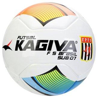 Bola Futebol Kagiva F5 Brasil Sub 07 Futsal b839d91a6f9e6