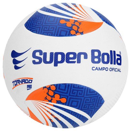 Bola Futebol Campo Super Bolla Tornado Pro 6 Gomos FCF - Branco+Laranja 81586a0f04a8f