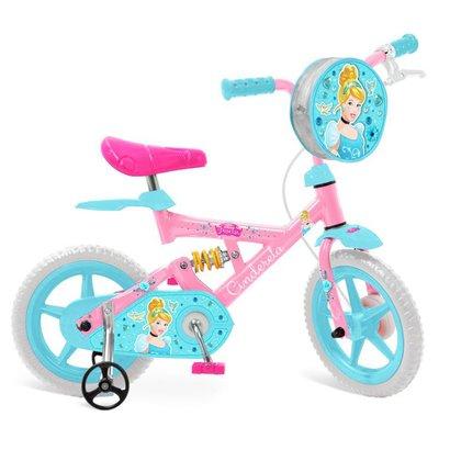 "Bicicleta X-Bike Bandeirante 12"" Cinderela Disney Infantil"