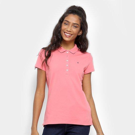 b8fbde3903 Camisa Polo Tommy Hilfiger Básica Feminina - Compre Agora