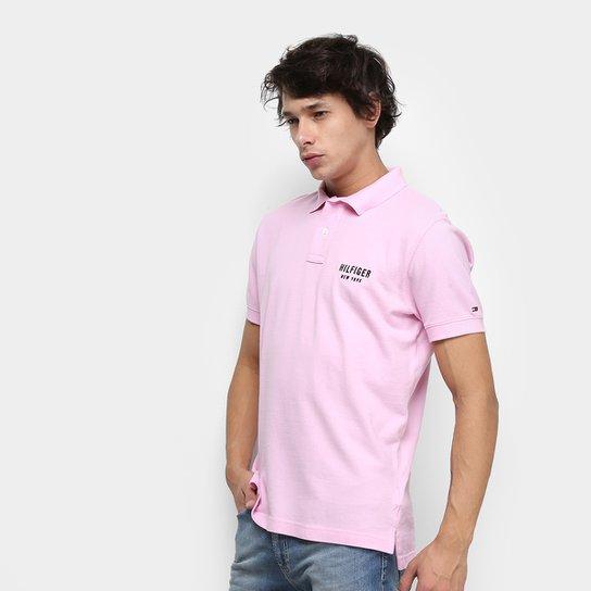 7c3184fe9f Camisa Polo Tommy Hilfiger Essential Regular Masculina - Rosa