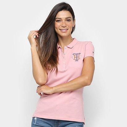 Camisa Polo Tommy Hilfiger Brasão Feminina