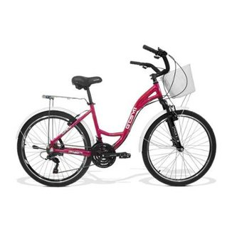 Bicicleta Feminina Gts M1 Walk Urbano Aro 26 Câmbio Shimano 21 Marchas E  Freio V- 3be0d29dbbd