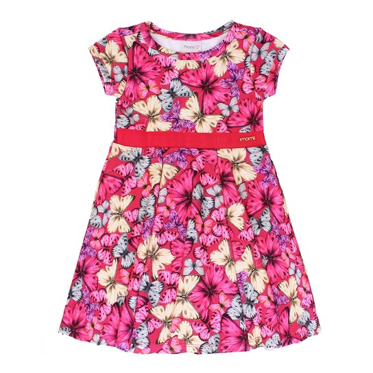 6d87182e1 Vestido Momi Neoprene Borboletas Coloridas - Momi | Netshoes