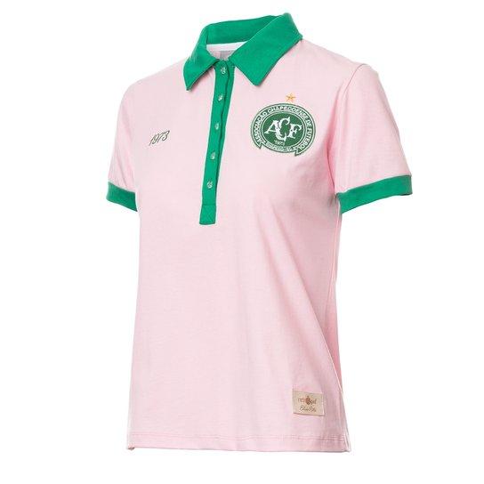 21cd42cf37d5d Camisa Feminina Baby Look Retrô Gol Chapecoense Torcedor 1973 - Rosa ...
