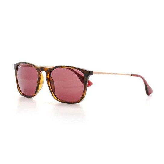 0fb062373 Óculos de Sol Ray Ban Quadrado Lente Acrílico Feminino - Rosa | Netshoes