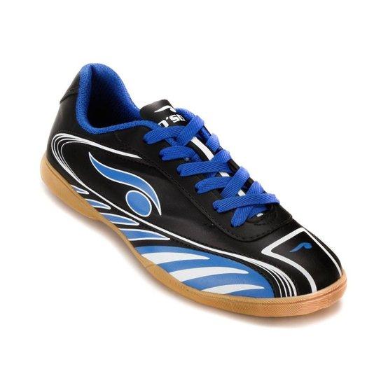Tênis Futsal Dsix 6203 - Preto e Azul - Compre Agora  5e17b7a3fe905