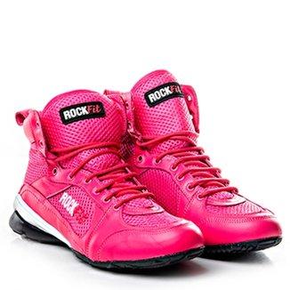 9fed2636bd4 Bota De Treino Cano Medio Em Couro Pink - Rock Fit