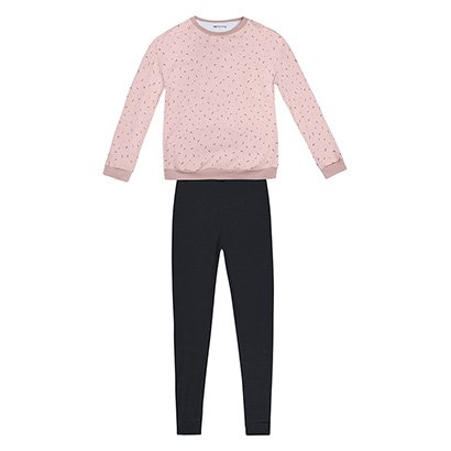 Pijama Hering Longo Estampado Feminino