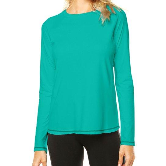 Camisa Térmica Camisa da Latinha com Proteção Solar UV50+ Feminina - Verde  água 37f57d3aa193d