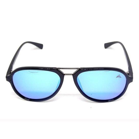 6fd7c12c9 Óculos Cayo Blanco de Sol Aviador - Preto+Azul