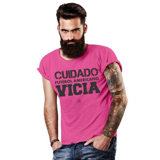 90e6a67a791ec Camiseta Six Points Futebol Americano - Rosa - Compre Agora