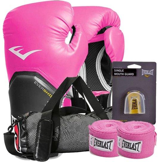 Kit Boxe Elite Everlast + Bolsa Naja 08Oz Rosa - Compre Agora  5e9b673a0f346
