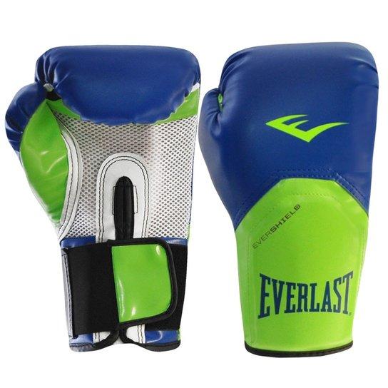 c1028c31ad998 Luva Boxe Everlast Pro Style Elite Training 12 Oz - Azul e Verde ...