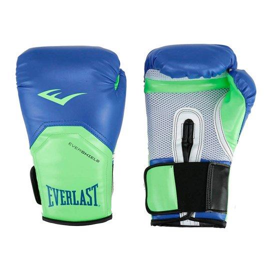 d7d0b0beb Luvas De Boxe Pro Style Elite Everlast - Azul+Verde