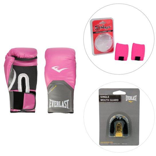 0852f2f88 Luva de Boxe Muay Thai Everlast 12 oz + Bandagem Naja 2