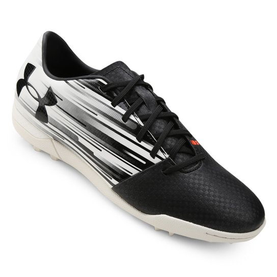 bf6f08f269aee Chuteira Society Under Armour Spotlight TF - Preto e Branco | Netshoes