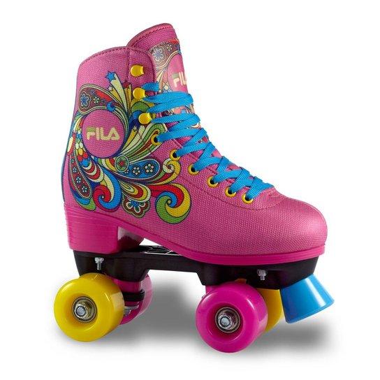25b597befd5 Patins Infantil Quad Fila Skates Bella - Rosa - Compre Agora
