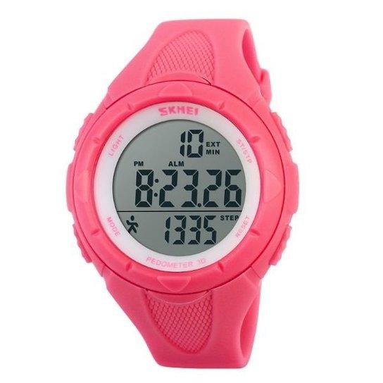5bbcac611e2 Relógio Feminino Skmei Pedômetro Digital 1108 VD - Rosa - Compre ...