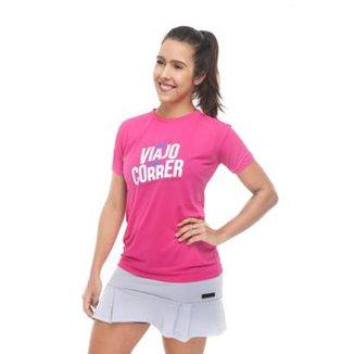 Camiseta Feminina Premium Só Viajo Pra Correr 159b4f1d820