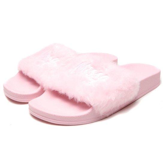 354913e2df Chinelo QIX Slide Missy Pelugem Feminino - Rosa - Compre Agora ...