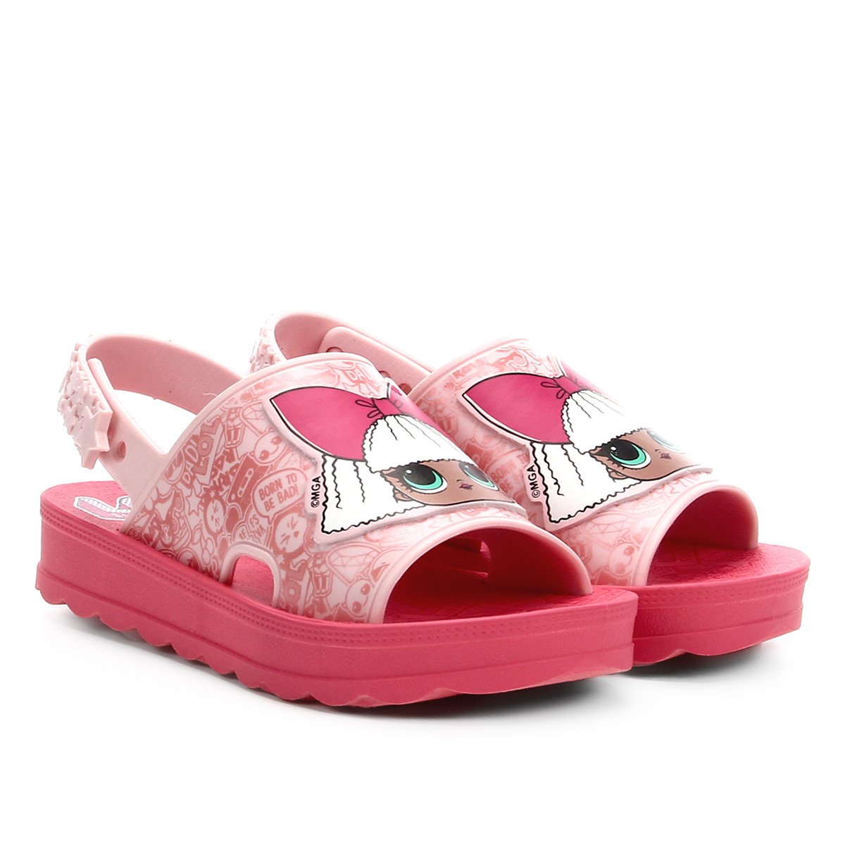 Sandália Infantil Grendene Kids Lol Hit Collection Flatform Feminina