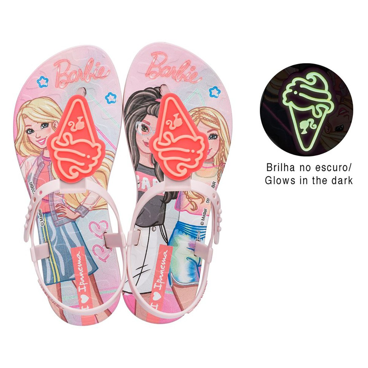 Sandália Infantil Grendene Kids Barbie Candy Feminina
