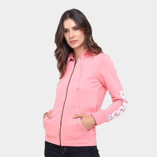 b17d0404cc6 Moletom Adidas Ess Lin Fz Hd Feminina - Compre Agora