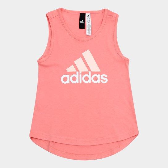 Camiseta Regata Infantil Adidas Yg Logo Sl Feminina - Compre Agora ... 69691193a72