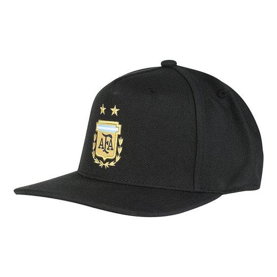 Boné Adidas Argentina Aba Reta - Preto e Azul - Compre Agora  c03efedfcbb