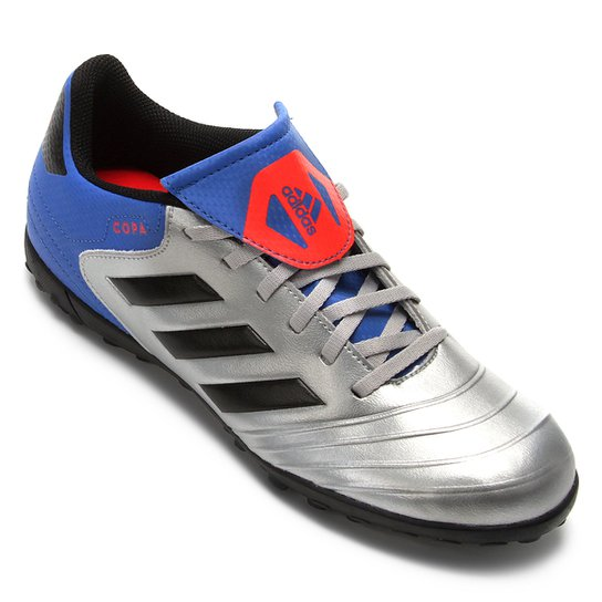 on sale 4eb8c 8617d Chuteira Society Adidas Copa Tango 18 4 TF - Prata+Azul