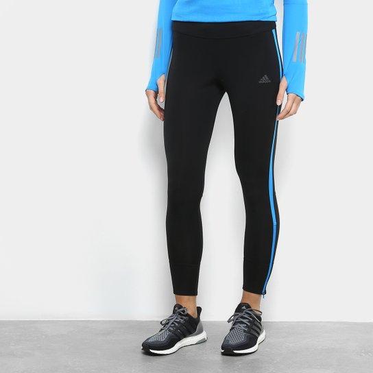 a8ed4fbb9 Calça Legging Adidas Response Feminina - Preto+Azul