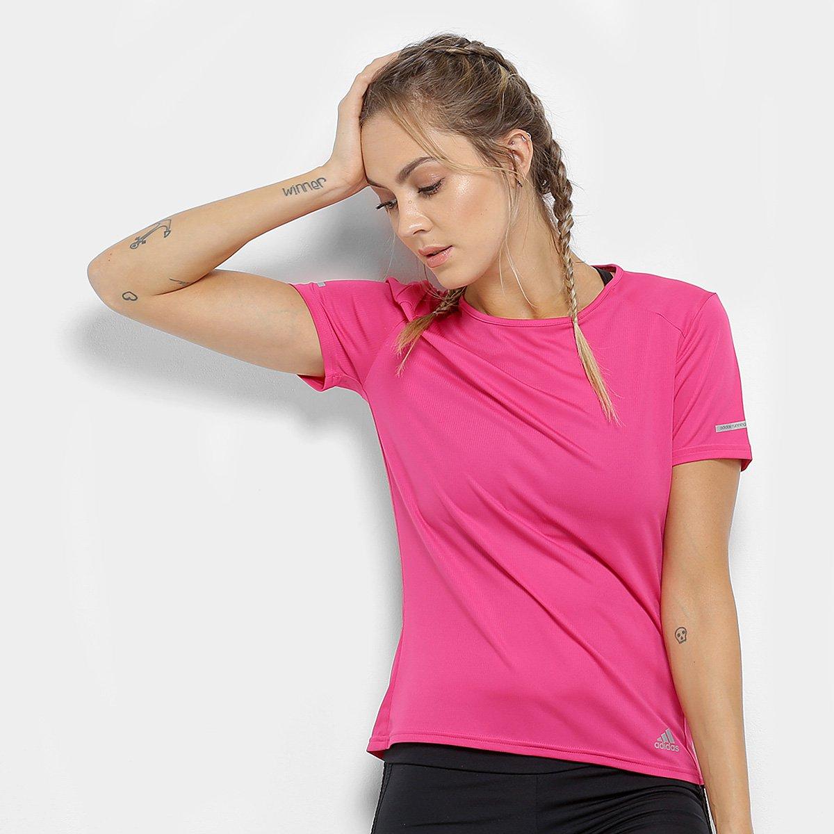 0bd0fa0e11c Camiseta Adidas Run Feminina - Tam  G - Shopping TudoAzul