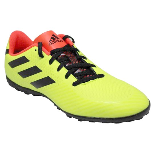 Chuteira Society Adidas Artilheira III TF - Amarelo e Preto - Compre ... 573024a69415d