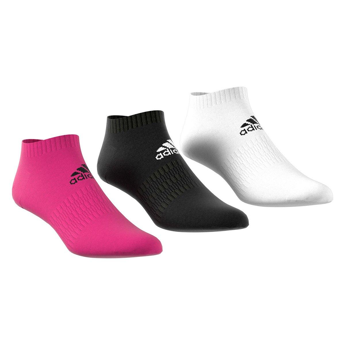 Kit Meia Adidas Soquete Cush Low c/ 3 pares - Tam: 38/40 - 1