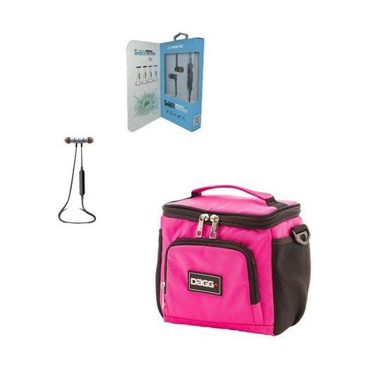 bbc3293a4e6 Kit com Bolsa Térmica Fitness - Dagg - Rosa - Compre Agora
