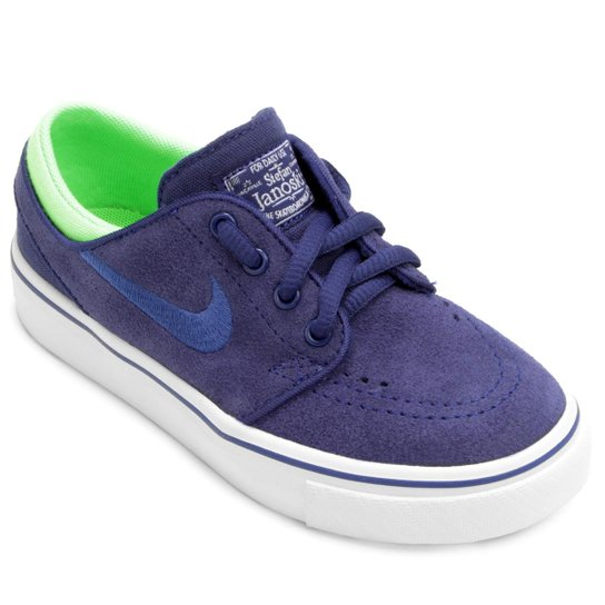 new product 36e46 bf47f Tênis Nike Stefan Janoski Infantil - Azul+Verde Limão