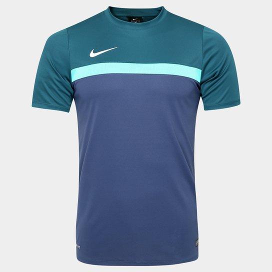 8f2224b7d7 Camisa Nike Academy Training 1 - Azul Petróleo+Azul