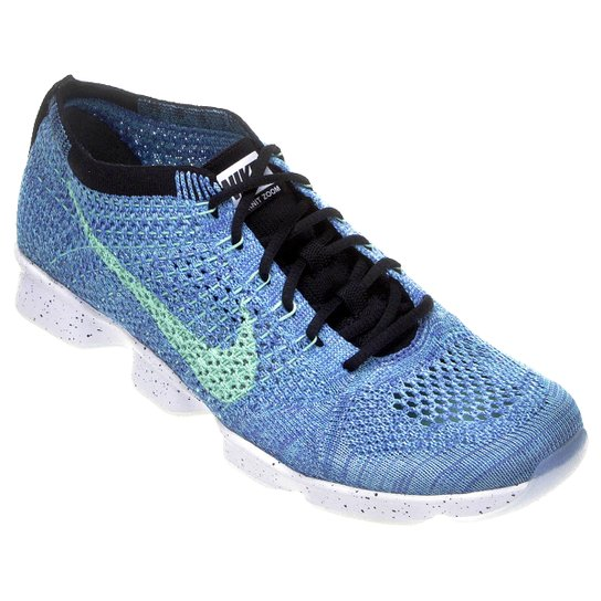 e2869f88c Tênis Nike Flyknit Zoom Agility - Preto+Azul ...