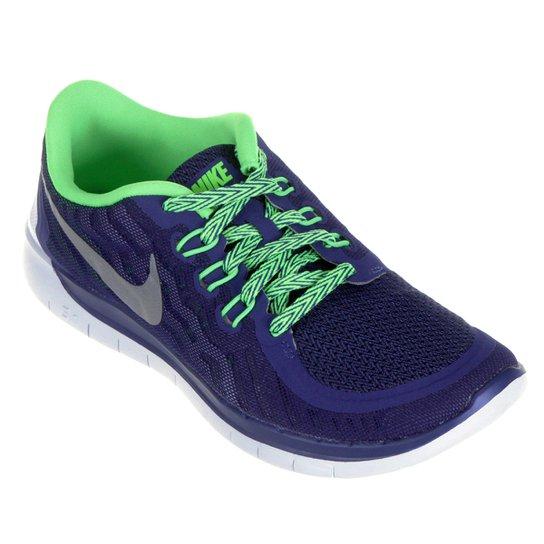 a11167f46ed Tênis Nike Free 5.0 Infantil - Marinho+Verde Limão