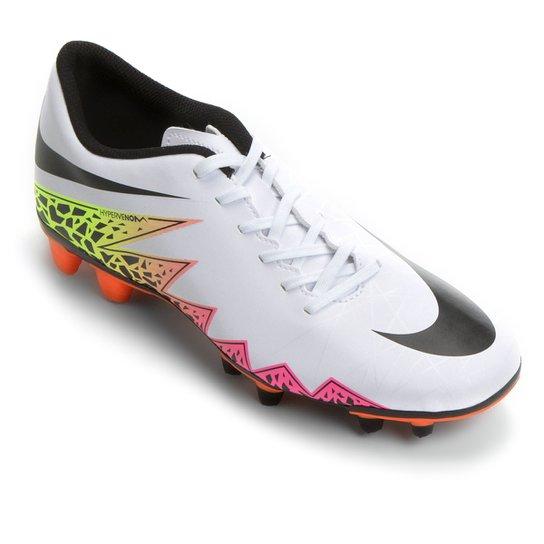 7a6c86209c Chuteira Campo Nike Hypervenom Phade 2 FG - Branco+Laranja