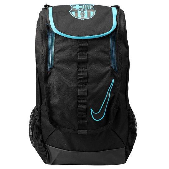 Mochila Nike Barcelona Allegiance Shield Co - Preto+Azul Turquesa a6200a4e2161e