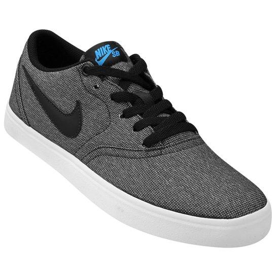 Tênis Nike Sb Check Solar Cnvs Masculino - Preto e Azul - Compre ... 2a767e35afeb9