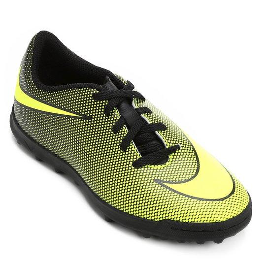 Chuteira Society Infantil Nike Bravata 2 TF - Amarelo e Preto ... 0a6e53f2756af