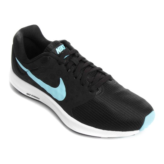 8a4d1d22b4a Tênis Nike Downshifter 7 Feminino - Preto e Azul - Compre Agora ...