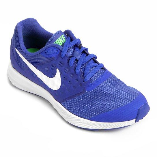 the best attitude 48b7c 0772c Tênis Nike Downshifter 7 Infantil - Azul+Verde