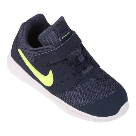 5ea6e26259007 Tênis Infantil Nike Downshifter 7 - Marinho+Verde Limão