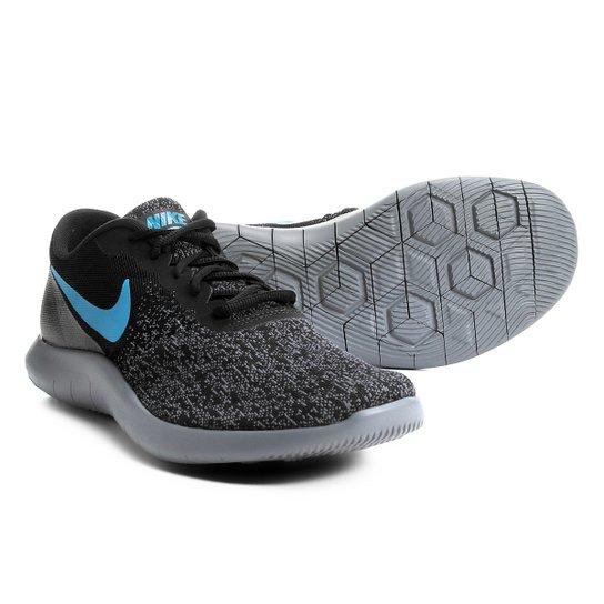 5241f8ed2d Tênis Nike Flex Contact Masculino - Preto e Azul - Compre Agora ...