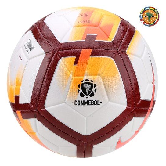 Bola de Futebol Campo Nike CONMEBOL CSF Strike - Branco e Laranja ... 2492c49a24cc2